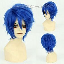 Unisex Short Anime Wig Fluffy Straight Synthetic Hair Cosplay Full Wig Synthetic