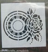 STENCIL - NATURE Rose Clock 180 across - C85 Collection L1