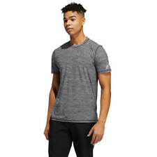 adidas Golf Mens 2021 Lifestyle Heathered Tee Wicking Crew T-Shirt 33% OFF RRP