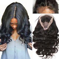 Brazilian Virgin Human Hair Wigs Super Silk Top Base 360 Full Frontal Lace Wig h