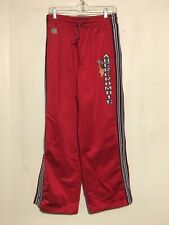 Abercrombie Athletics Warm Up Track Red Pants Mens XL Running Sports Basketball