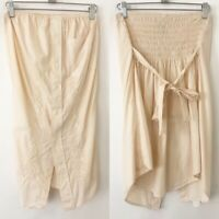 Urban Outfitters Urban Renewal S Small M Medium strapless embroidered top cream