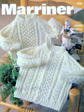 Baby Childs Sweater and Cardigan Aran Knitting Pattern 99p