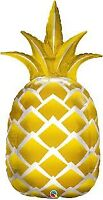 """LARGE FOIL SUPERSHAPE BALLOON GOLDEN PINEAPPLE 44"""" BIRTHDAY PARTY SUPPLIES"""