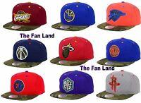 New NBA Camo Visor 2 Tone Mens Snapback Hat Cap
