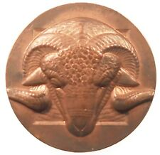 France award HEAD OF A RAM copper 50mm by Briquemont
