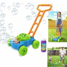 Kids Electronic Bubble Lawn Mower Blower Machine Blowing Push Toy for Toddlers