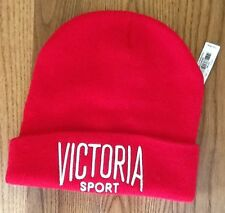 VICTORIA'S SECRET VICTORIA SPORT RED BEANIE HAT NEW WITH TAGS ONE SIZE