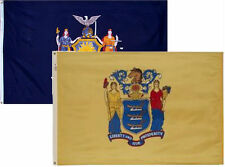 3x5 3'x5' Wholesale Combo Set State New York & New Jersey 2 Flags Flag