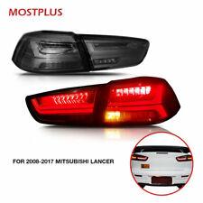 LED Tail lights Smoked For Mitsubishi Lancer Evo X 2008- Dynamic Turn Signal