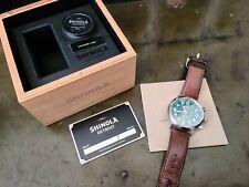 Shinola Argonite Runwell-5021 Detroit Leather Band Green Face