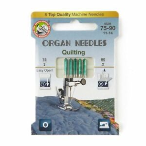 Quilting Domestic Sewing Machine Needles by Organ ECO - Pack of 5 - Size 75-90