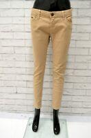 Pantalone STRADIVARIUS Donna Taglia Size 42 Jeans Skinny Slim Fit Elastico Beige