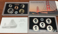 COMPLETE 2018 UNITED STATES Mint Silver REVERSE PROOF SET w Box + COA S 10-Coins
