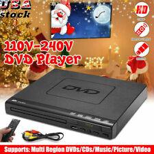 New 15W Lcd Dvd Player 110V-240V Hdmi Cd Usb 3.0 Remote Compact 6Regions Video