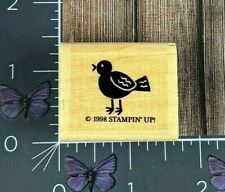 Stampin' Up! Small Bird Rubber Stamp 1998 Wood Mount #AA95
