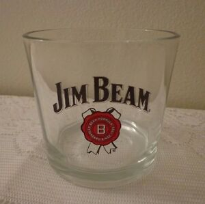 "Jim Beam Kentucky Bourbon Cocktail Rocks Glass Barware 4"""