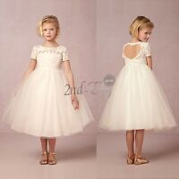 Baby Communion Party Formal Princess Party Bridesmaid Wedding Flower Girl Dress
