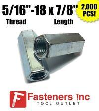Qty 2000 516 18 X W716 X L78 Coarse Grade A Hex Rod Coupling Nut Zinc