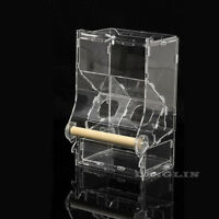Acrylic Seed No Mess Pet Bird Feeder Parrot Canary Cockatiel Finch Tidy Cage Toy