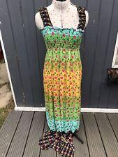 MAXI ELASTIC BUST. SUN DRESS.PAISLEY PRINT BNWT. RRP £20.