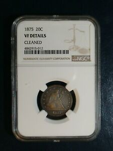 1875 Twenty Cent Piece NGC VERY FINE 20C Silver Coin PRICED TO SELL FAST!
