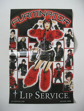 *Lip Service Classic Dagger Logo Furminator Two Side Catalog Poster Holiday '09