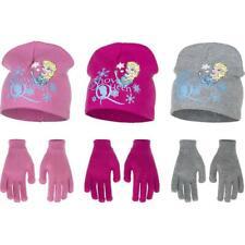 Girls Kids Disney Frozen Winter Beanie Set Hat Gloves