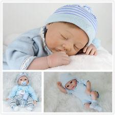 """Realistic Reborn Baby Dolls 11/22"""" Lifelike Vinyl Silicone Newborn Boy Doll Xmas"""