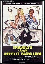 TRAVOLTO DAGLI AFFETTI FAMILIARI MANIFESTO FILM GLORIA GUIDA SEXY 1978 POSTER 4F