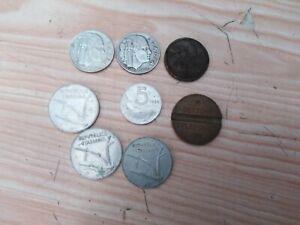 Lotto 8 monete italiane lira antiche