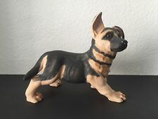 Vintage Enesco German Shepherd Puppy Porcelain Figurine Dog Statue Sculpture 10""