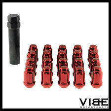 (20) 12X1.25 RED SPLINE TUNER WHEEL LUG NUTS QTY 20 FITS SUBARU BRZ SCION FRS
