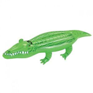 Bestway Kinder Schwimmtier Badetier Reittier Pool Krokodil aufblasbar mit Griff