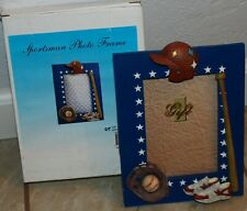 "3D Sportsman Sport Photo Memory Baseball Picture Frame 4"" x 6""  new in box table"