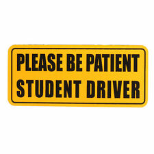 Zone Tech Car Please Be Patient Student Driver Reflective Magnetic Sign Decal