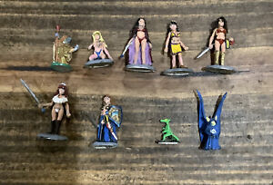 Ral Partha Silver and Steel 2 Miniatures Set #10-312 Painted No Box