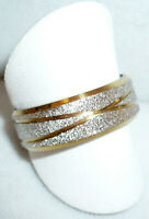 Edelstahl Partner Ring, gold silber Schliff Gr. 17, 18, 19, 20, 21, 22 NEU + TOP