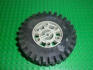 LEGO TECHNIC Oldgray wheel 24x43 ref 3739 + Tyre 3740 /853/8859/8860/956/8849...