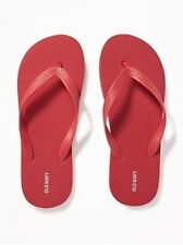 NWT Men's FLIP FLOPS Old Navy Sandals SIZE 12-13 RED Shoes pool beach