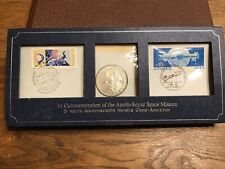 Space Mission Apollo Soyouz 1976 Médaille Argent + Timbres FDC