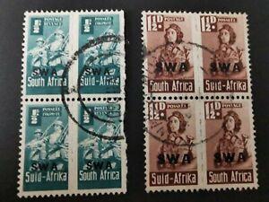 South West Africa SWA KGVI 1943-44 War Effort Used Units. SG123/125. Cat £24.