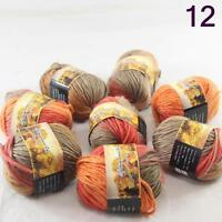Sale Lot 8 Skeins NEW Knitting Yarn Chunky Hand-woven Colorful Wool scarves 12