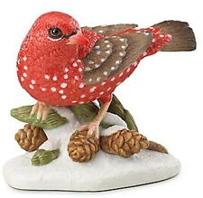 Lenox Strawberry Finch Christmas Bird 2016 Hand Painted Coa New