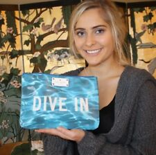Ultra Rare Kate Spade Daycation Gia Clutch DIVE IN Make a Splash! Swim Team