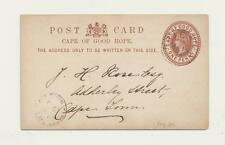 """CAPE OF GOOD HOPE 1878 """"PRIESKA"""" CDS  ON ½d CARD TO CAPE TOWN, SCARCE !!"""