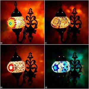 Single Sconce Home Decor Light Lamp Turkish Handmade Mosaic Wall Fixtured Glass