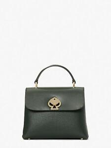 🌸 Kate Spade Romy Mini Top Handle Satchel Crossbody Bag Purse Deep Evergreen
