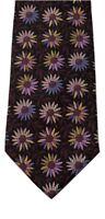 Mondo Seta Vintage 100% Silk Brown Floral Multi-color Hand Made Men's Neck Tie
