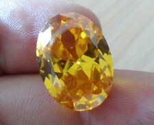 Unheated 10x12mm AAA Yellow Sapphire Oval Shape Faceted Cut 7.36ct VVS Gemstone